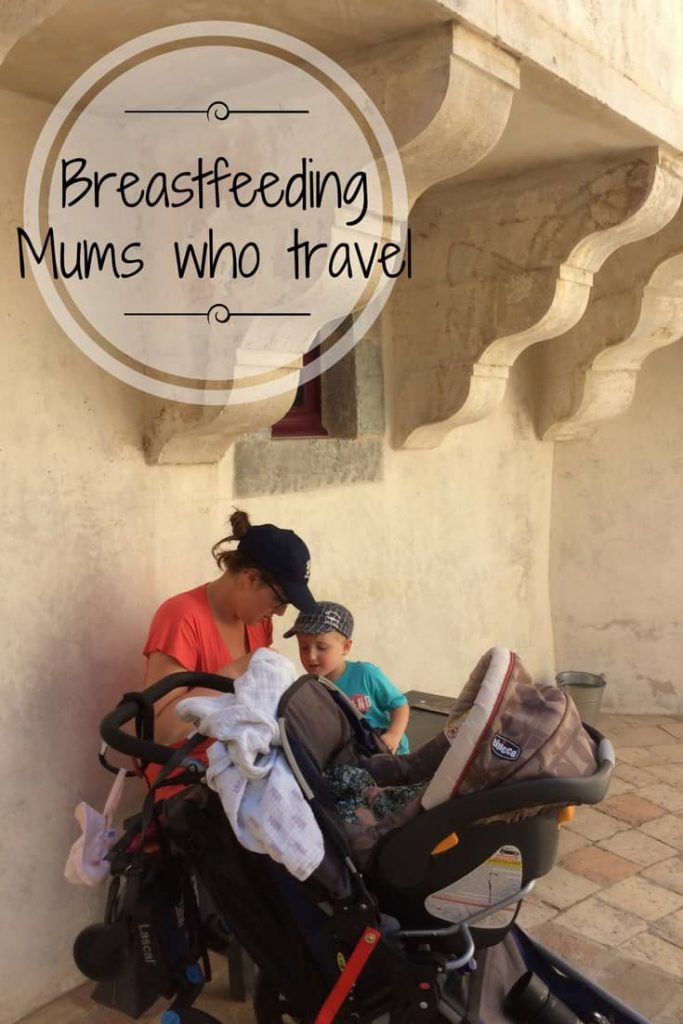 Breastfeeding while traveling doesn't have to be scary, stressful or a royal pain. Learn how we adapt and move on, in public or in private