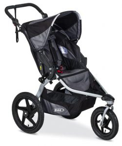 This rugged all-terrain jogging stroller is perfect for daily adventures and suitable for children from 8 weeks old and up to 75 pounds.