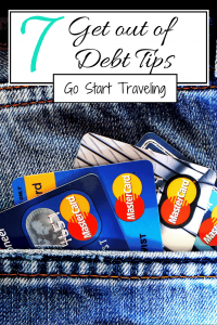 This is how to save money, get out of debt and budget for traveling. Don't travel while heavily in debt; being financially insecure sucks the fun out of spending money.