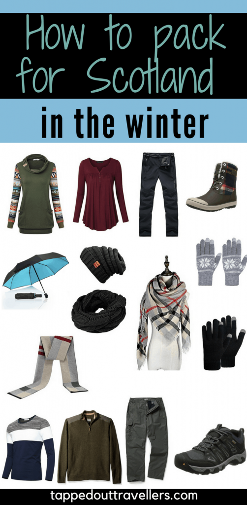 Are you visiting Scotland this winter? SAVE this pin for later, and then click to find your complete packing list for Scotland in February from clothes to shoes to hats and more! CLICK over for all the details now #Scotland #packinglist #travel #winter#Europe  #Edinburgh #Glasgow #packing #whattowear #travelwithkids #familytravel
