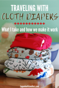 travel cloth diaper stash for visiting family #clothdiapers #travelfamily #travelwithbaby