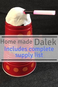 How to make a Dalek with step-by-step instructions - includes a complete supply list. It's a must pin for all Dr Who fans! Check it out.