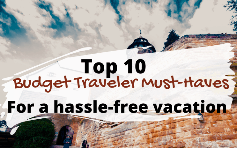Our recommendations for must-have travel accessories for budget travelers. Get the best travel gear to make your trips simpler. #travel #traveltips #travelaccessories