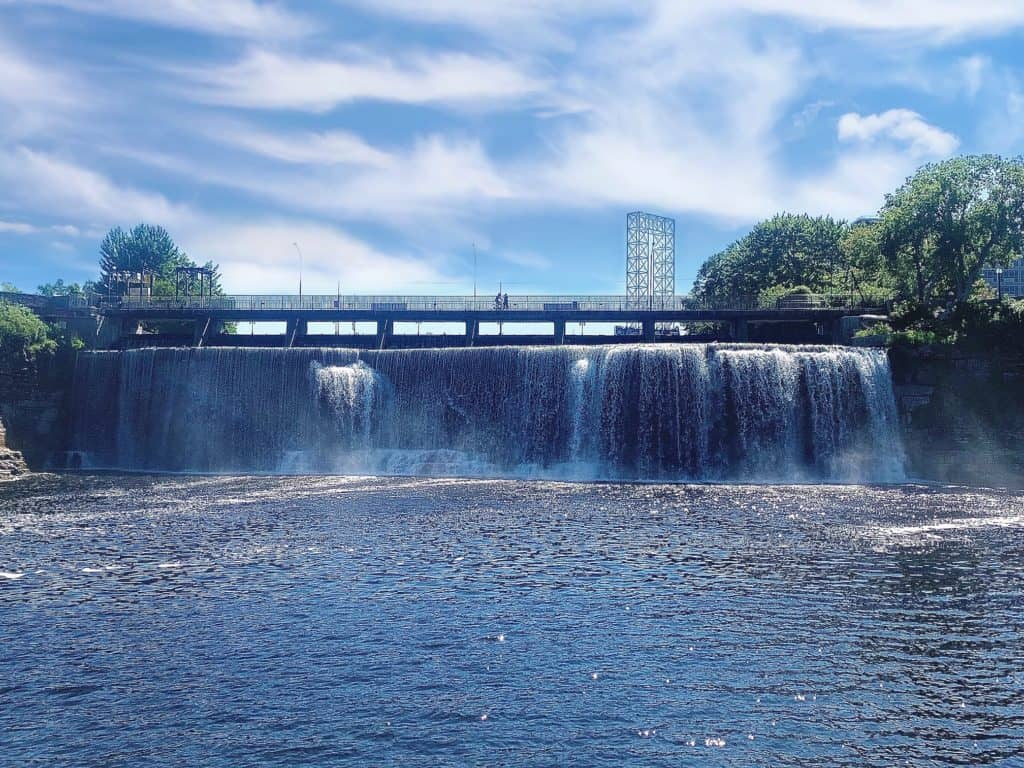 Exploring the Rideau Falls in the heart of Ottawa